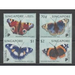 Singapour - 1999 - No 910/913 - papillons