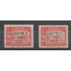 Colombie - 1946 - No 403A/403Aa - jeux olympiques d'été