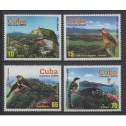 Cuba - 2003 - No 4111/4114 - oiseaux