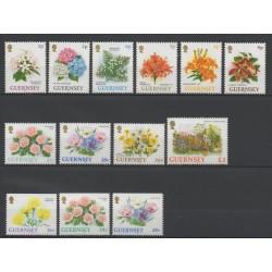 Guernesey - 1993 - No 605/615 - 611a - 612a - fleurs