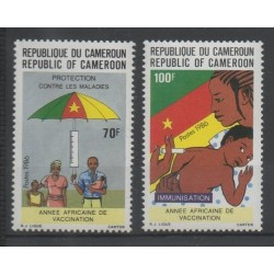 Cameroon - 1986 - Nb 808/809 - health