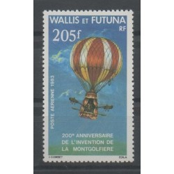 Wallis and Futuna - Airmail - 1983 - Nb PA 124 - hot-air balloons - airships