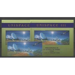 Nations Unies (ONU - Genève) - 1999 - No 387/388 - BF 11/BF12 - Espace