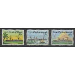 Cocos (Iles) - 1985 - No 128/130 - Bateaux