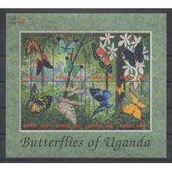 Ouganda - 2000 - No 1842/1849 - papillons