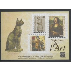 France - Blocks and sheets - 1999 - Nb BF 23 - Paintings