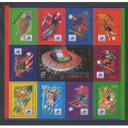 France - Blocks and sheets - 1998 - Nb BF 19 - Soccer World Cup