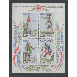 France - Blocks and sheets - 1989 - Nb BF 10 - Various Historics Themes