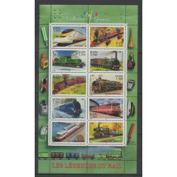 France - Blocs et feuillets - 2001 - No BF 38 - Trains