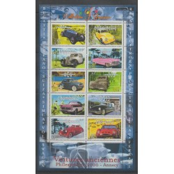 France - Blocks and sheets - 2000 - Nb BF 30 - Cars