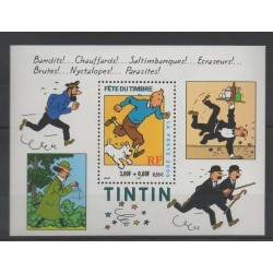 France - Blocks and sheets - 2000 - Nb BF 28 - Cartoons - Comics