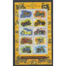France - Blocks and sheets - 2002 - Nb BF 51 - Motorcycles