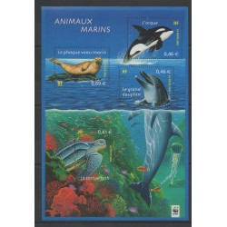 France - Blocks and sheets - 2002 - Nb BF 48 - Sea life