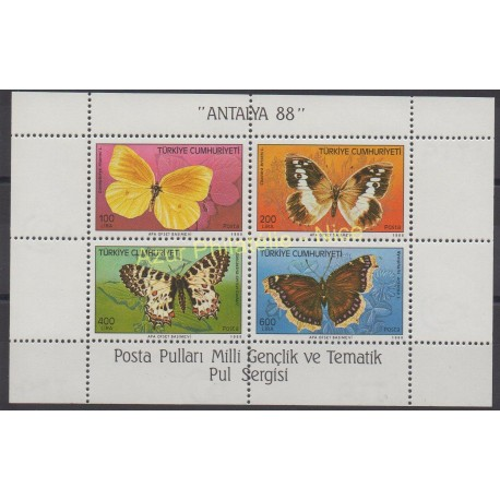 Turquie - 1988 - No BF 28 - Papillons