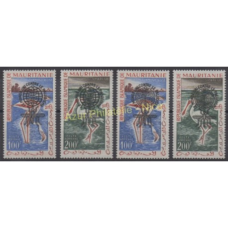 Mauritanie - 1962 - No PA20A/ PA20D - Oiseaux - Neuf avec charnière