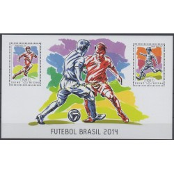 Timbres - Thème coupe du monde de football - Guinée-Bissau - 2014 - No BF 959