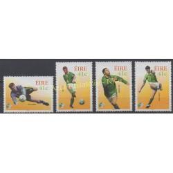 Irlande - 2002 - No 1442/1445 - Coupe du monde de football