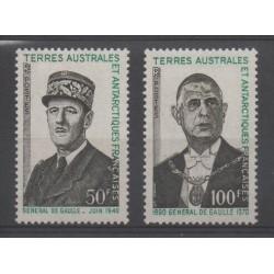 TAAF - 1972 - No 46/47 - De Gaulle