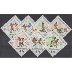 Stamps - Theme soccer world cup - Hungary - 1982 - Nb 2798/2804