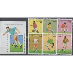 Timbres - Thème coupe du monde de football - Congo (République du) - 1996 - No 1041/1046 - BF 65