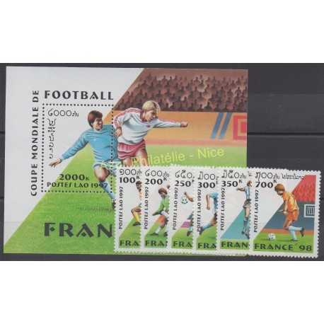 Laos - 1997 - No 1281/1286 - BF140 - Coupe du monde de football