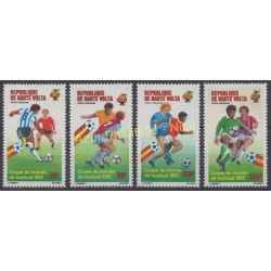 Upper Volta - 1982 - Nb PA 233 / PA 236 - Soccer world cup