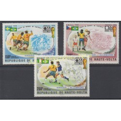 Haute-Volta - 1974 - No PA 180 /PA 182 - Coupe du monde de football