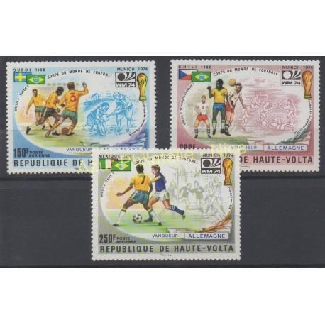Haute-Volta - 1974 - No PA 180 /PA 182 - Coupe du monde de football