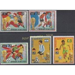 Upper Volta - 1974 - Nb PA 169 /PA 173 - Soccer world cup