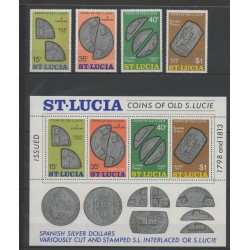 St. Lucia - 1974 - Nb 354/357 - BF 3 - Coins, Banknotes Or Medals