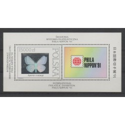 Poland - 1991 - Nb BF 124 - Butterflies - Exhibition