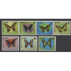 Cuba - 1972 - No 1605/1611 - Papillons