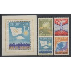Albanie - 1964 - No 685/688 - BF 6K - Jeux Olympiques d'été