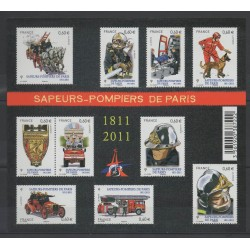 France - Blocks and sheets - 2011 - Nb F 4582 - Firemen