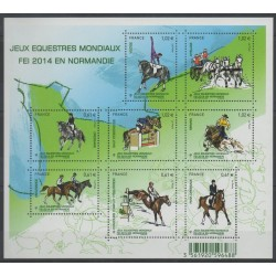 France - Blocks and sheets - 2014 - Nb F 4890 - Horses