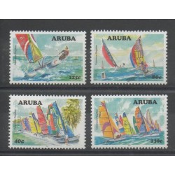 Aruba (Netherlands Antilles) - 2007 - Nb 391/394 - Boats