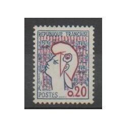 France - Varieties - 1961 - Nb 1282a