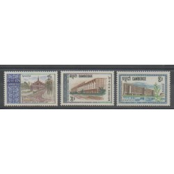 Cambodge - 1968 - No 203/205 - Monuments