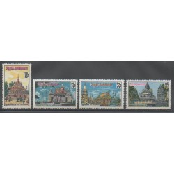 Cambodge - 1970 - No 242/245 - Monuments