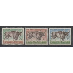 Cambodge - 1964 - No 144/146 - Animaux