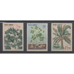 Cambodge - 1965 - No 164/166 - Flore