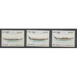 Cambodia - 1989 - Nb 892A/892C - Boats