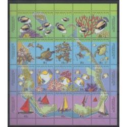 Cocos (Iles) - 1994 - No 286/305 - Vie marine