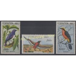 Timbres - Thème oiseaux - Mali - 1960 - No PA 2/4