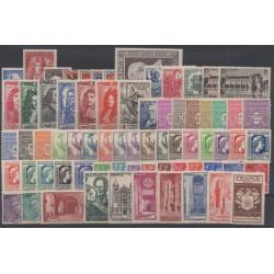 France - 1944 - Nb 599/668