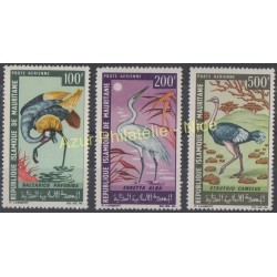 Stamps - Theme birds - Mauritania - 1967 - Nb PA 64/66