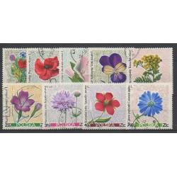 Pologne - 1967 - No 1636/1644 - Fleurs - oblitéré