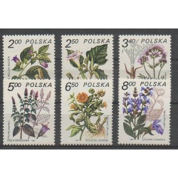 Pologne - 1980 - No 2523/2528 - Fleurs