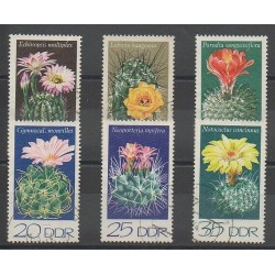 East Germany (GDR) - 1974 - Nb 1602/1607 - Flowers - used