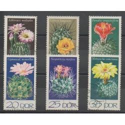 Allemagne orientale (RDA) - 1974 - No 1602/1607 - Fleurs - oblitéré